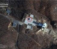 Corea del Norte desmanteló el banco de pruebas de Sohae , pero lo volvió a armar en marzo de 2019. (Instituto Middlebury de Estudios Internacionales)