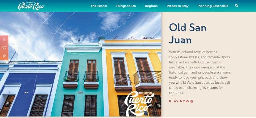 Entre las imágenes que puedes convertir en rompecabezas está la de una calle de El Viejo San Juan. (Tomado de www.discoverpuertorico.com)
