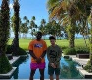 LeBron James y Bad Bunny en una de las fotos publicadas por el canastero.