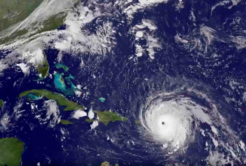 Imagen satelital de la localización de irma a las 7:15 a.m. (NOAA)