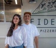 Camila Cruz y Ángel Rosario han apostado a un menú pequeño y un horario limitado para garantizar la máxima calidad y frescura de ingredientes en las pizzas.