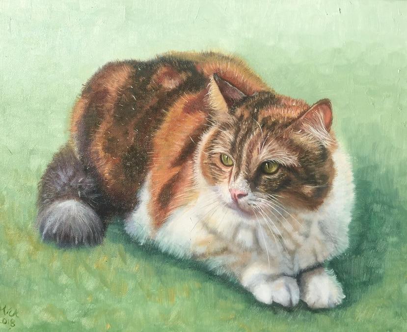 Otro óleo sobre lienzo creado por Michaela Soto.