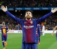 Lionel Messi salvó a los anfitriones con su anotación que venció a Keylor Navas a los 52 minutos para rescatar el resultado a pesar de que Barcelona jugaba con un hombre menos. (AP / Emilio Morenatti)