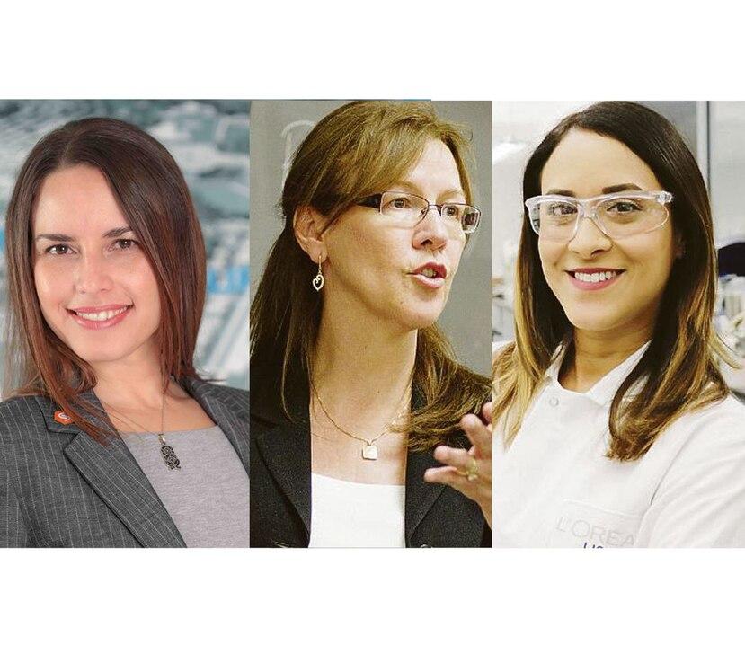 De izquierda a derecha, Greetchen Díaz Muñoz, Minerva Cordero Braña y Roselin Rosario Meléndez. (GFR Media)