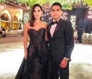 Karina y Edson Banda.