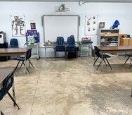 Este era el salón en donde míster Nogué enseñaba a jóvenes de cuarto a sexto grado en la escuela con modalidad Montessori en Comerío.
