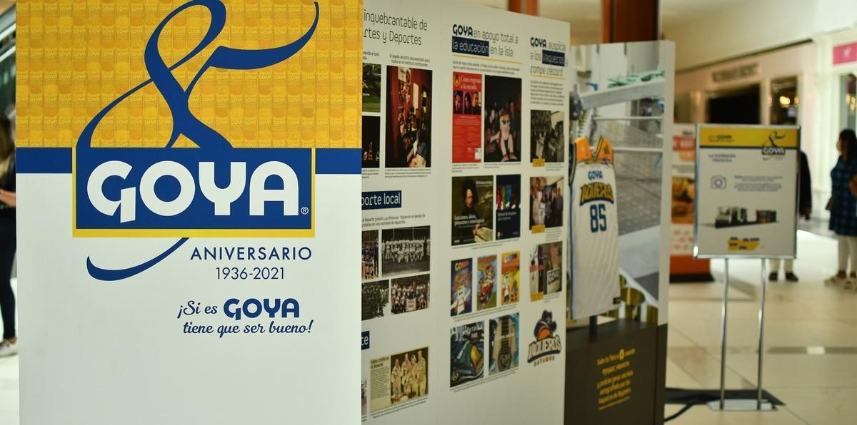 """Goya destaca su eslogan """"Si es Goya, tiene que ser bueno"""" en la exhibición itinerante que arranca en Plaza del Sol."""