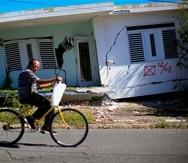 Una de las residencias afectadas en la calle 2 de la comunidad La Esperanza, área con los mayores daños en Guánica tras el terremoto.