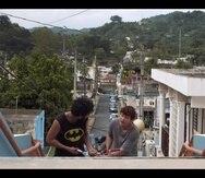 """Escena de la película """"La garra del guaraguao"""", de Vicente Castro, filmada en Utuado."""