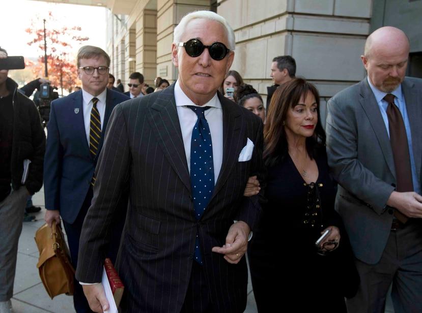 En un principio, el Departamento de Justicia federal había pedido siete años de prisión para Roger Stone. (AP)