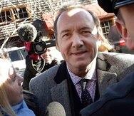 Kevin Spacey llega a la Corte de Distrito en Nantucket, Massachusetts en enero de 2019. (AP)