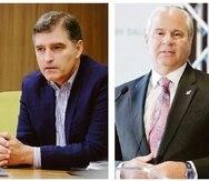 A la izquierda, Walter Keenan, CEO de Advantage Life; y Alberto Bacó, exbanquero y exjefe del DDEC.