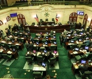 Hemiciclo de la Cámara de Representantes.