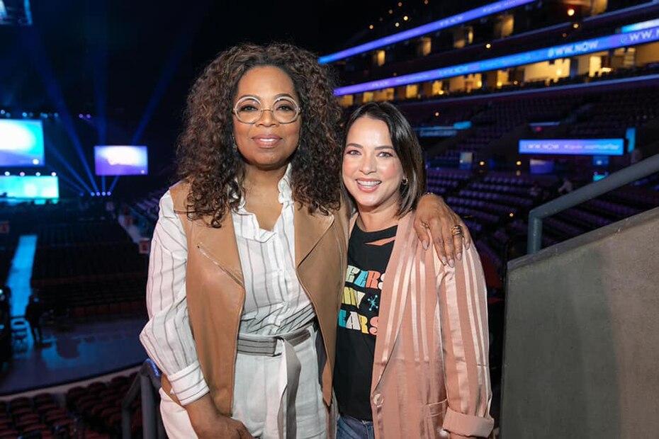 La artista tuvo un encuentro en enero de 2020 con la famosa Oprah Winfrey durante una iniciativa de Weight Watchers.