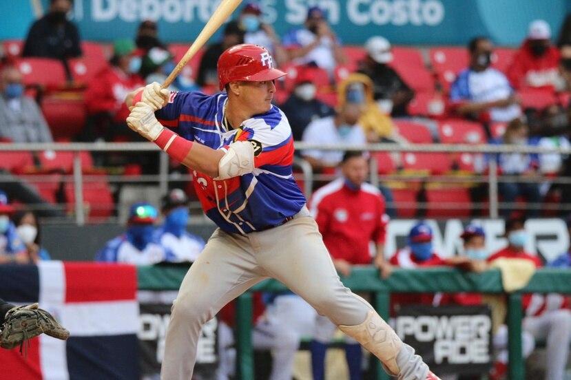 José Miranda -vistiendo el uniforme de Puerto Rico en la pasada Serie del Caribe- fue reconocido por su gran actuación en liga menor este año.