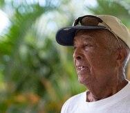 """El lider viequense Carlos """"tazo"""" Zenon."""