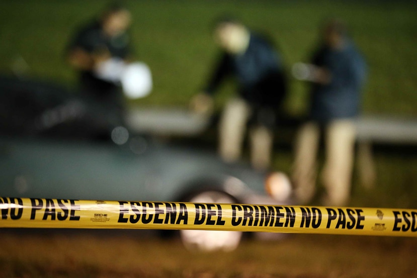 Foto de archivo que muestra el perímetro de una escena del crimen.