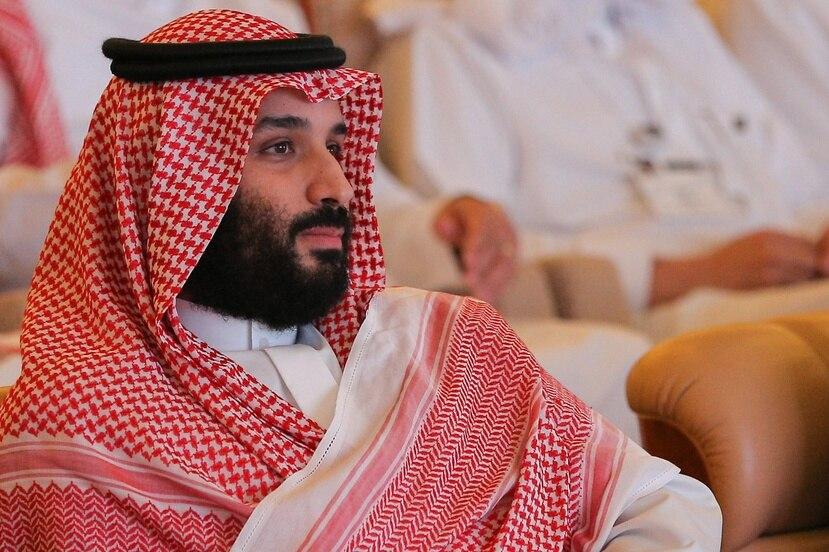 """El príncipe heredero saudí, Mohamed bin Salman, asiste al foro económico Future Investment Initiative (FII) o """"Davos del desierto"""" en Riad, Arabia Saudita. (EFE)"""