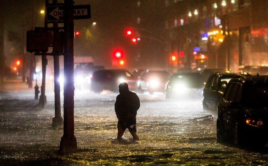 Las autoridades catalogaron las inundaciones en Nueva York como históricas.