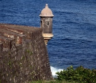Una de las garitas del Castillo San Felipe del Morro en San Juan.