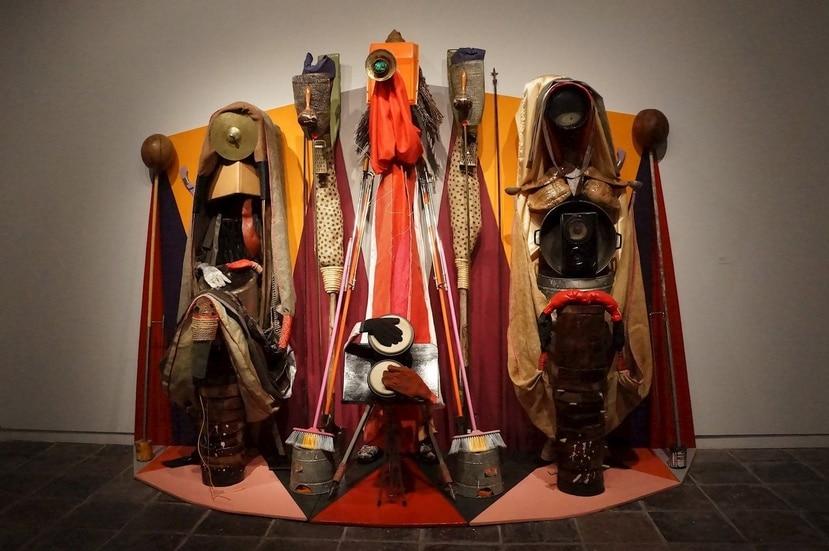 """Fotografía cedida por el Pérez Art Museum Miami (PAMM) donde se muestra """"Con-junto"""" (2015), una obra innovadora del artista puertorriqueño Daniel Lind-Ramos que ganó el Pérez Prize. (EFE/PAMM)"""