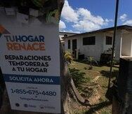 Tu Hogar Renace es un programa establecido para auxiliar a las personas cuyos hogares resultaron afectados por el huracán. (GFR Media)