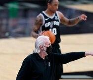 El dirigente de los Spurs Gregg Popovich critica al gobernador Greg Abbott por levantar restricciones en Texas