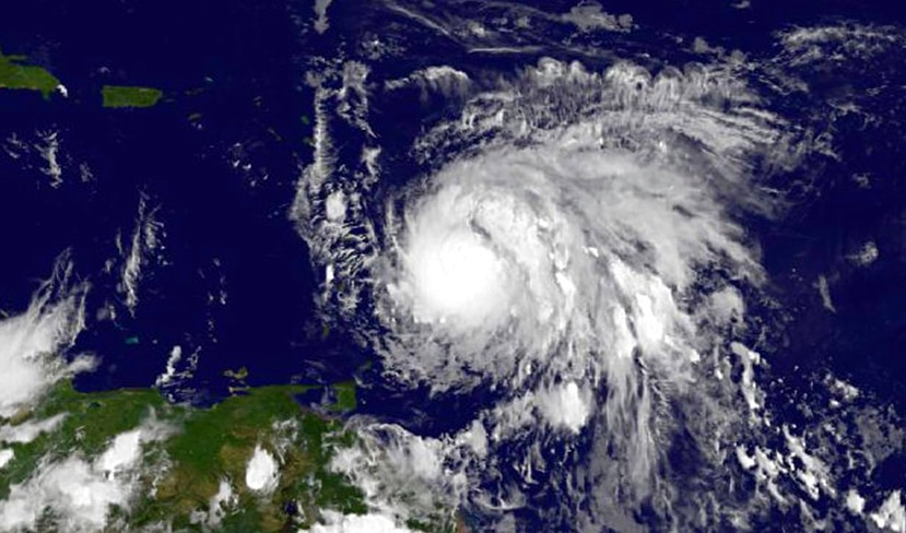 Una imagen del huracán María, fenómenos meteorológicos que se miden desde 1743.