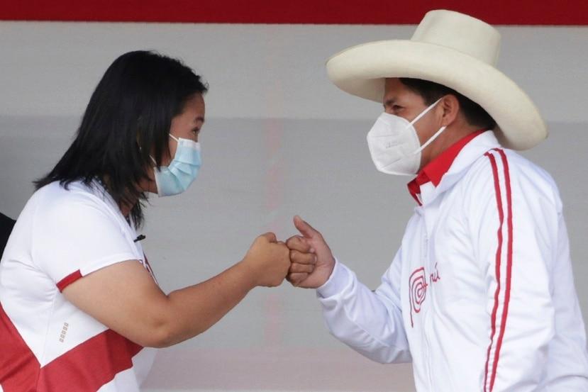 keiko Fujimori y Pedro Castillo.