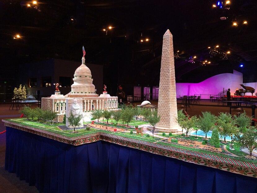 Capitolio de Washington DC, confeccionado en jengibre. (Gregorio Mayí/ Especial para GFR Media)