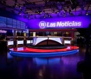 """El nuevo estudio de """"Las Noticias"""" de  TeleOnce. (pablo.martinez@gfrmedia.com)"""