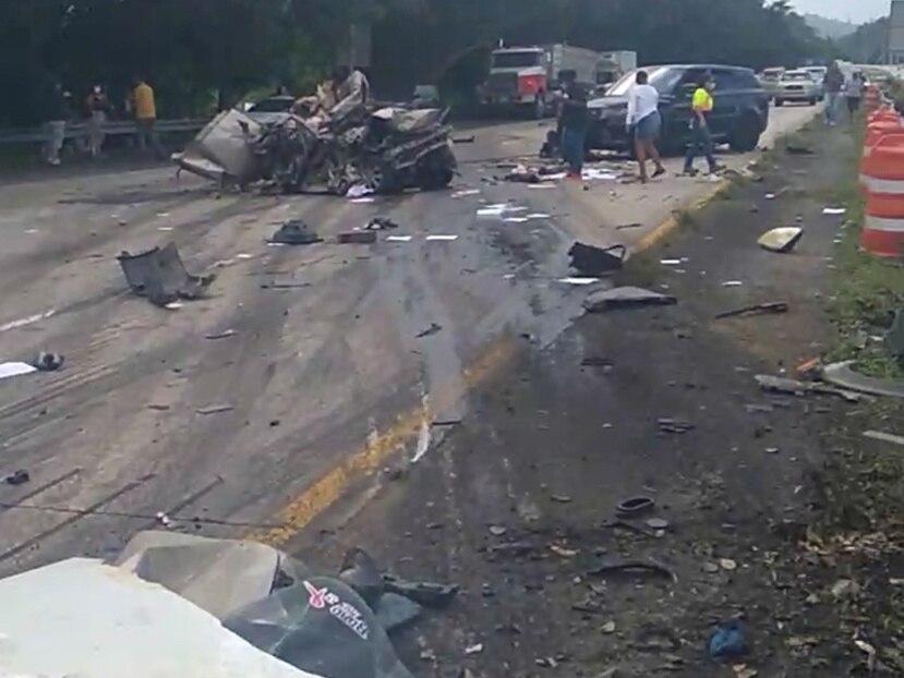 Imagen de la escena del accidente ocurrido en noviembre de 2020.