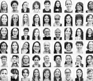 Parte de las imágenes de las 247 mujeres que participaron en la muestra fotográfica en el MAC.
