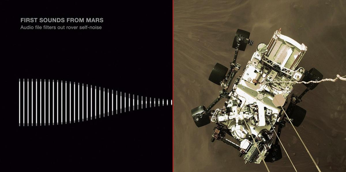 NASA difunde el primer sonido grabado en Marte