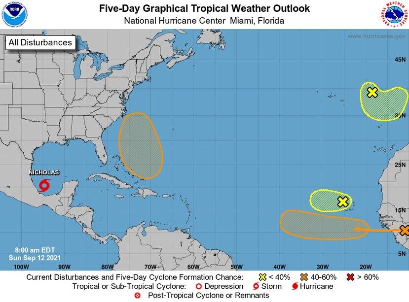 La tormenta tropical Nicholas se formó el domingo en el Golfo de México.