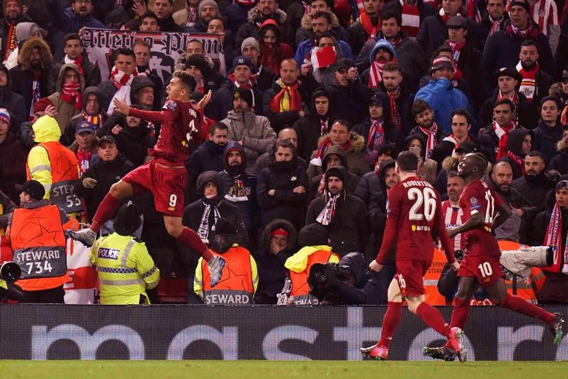 Foto del partido entre Liverpool y Atlético el pasado 11 de marzo.