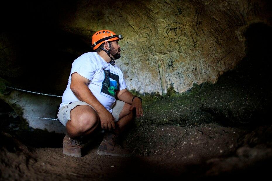 Se trata de una imagen asociada a los primeros pobladores de Puerto Rico, los arcaicos, que se remonta a, por lo menos, 500 años antes de Cristo.