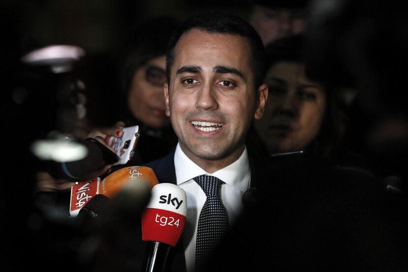 Luigi di Maio, vicepresidente del gobierno de Italia. (EFE)