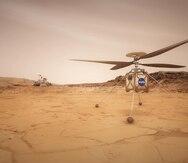 NASA intentará el lunes el primer vuelo en Marte del helicóptero Ingenuity