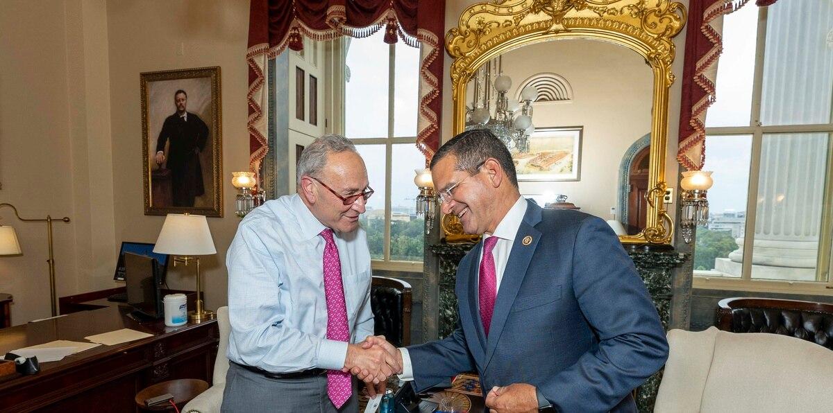 La agenda del gobernador Pedro Pierluisi ayer incluyó una reunión con el líder de la mayoría demócrata del Senado, Charles Schumer, con quien discutió asuntos relacionados con Medicaid.