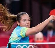 Adriana Díaz en acción durante los Juegos Olímpicos de Tokio 2020.