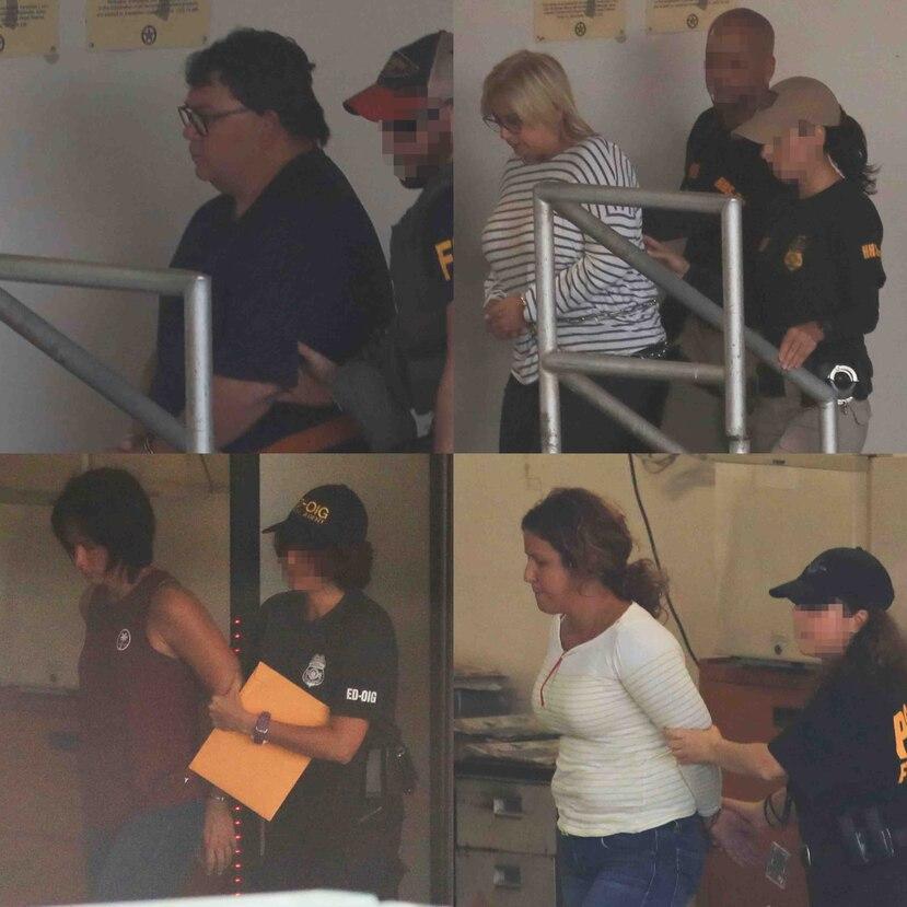 El presidente de BDO, Fernando Sherrer Caillet; la ex directora ejecutiva de ASES, Ángela Ávila; las contratistas Glenda y Mayra Ponce. (GFR Media)