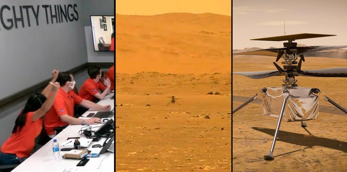 Ingenuity: mira el histórico vuelo de un helicóptero en Marte