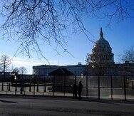 El Capitolio de Estados Unidos, tras las medidas de seguridad de cara a la jura de Joe Biden.