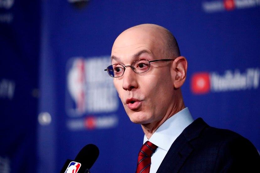 En la imagen, el comisionado de la NBA, Adam Silver.