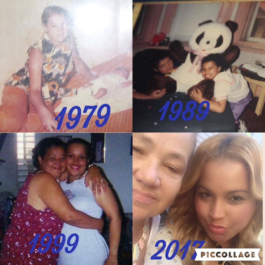 """""""Mi madre Aida Torres es una madre ejemplar y un ser lleno de amor y ternura. De niña me hacía muñecas de trapo y me dormía a su lado en la hamaca. Amo a mi madre porque es una mujer con un corazón generoso"""". (Suministrada/ Facebook)"""