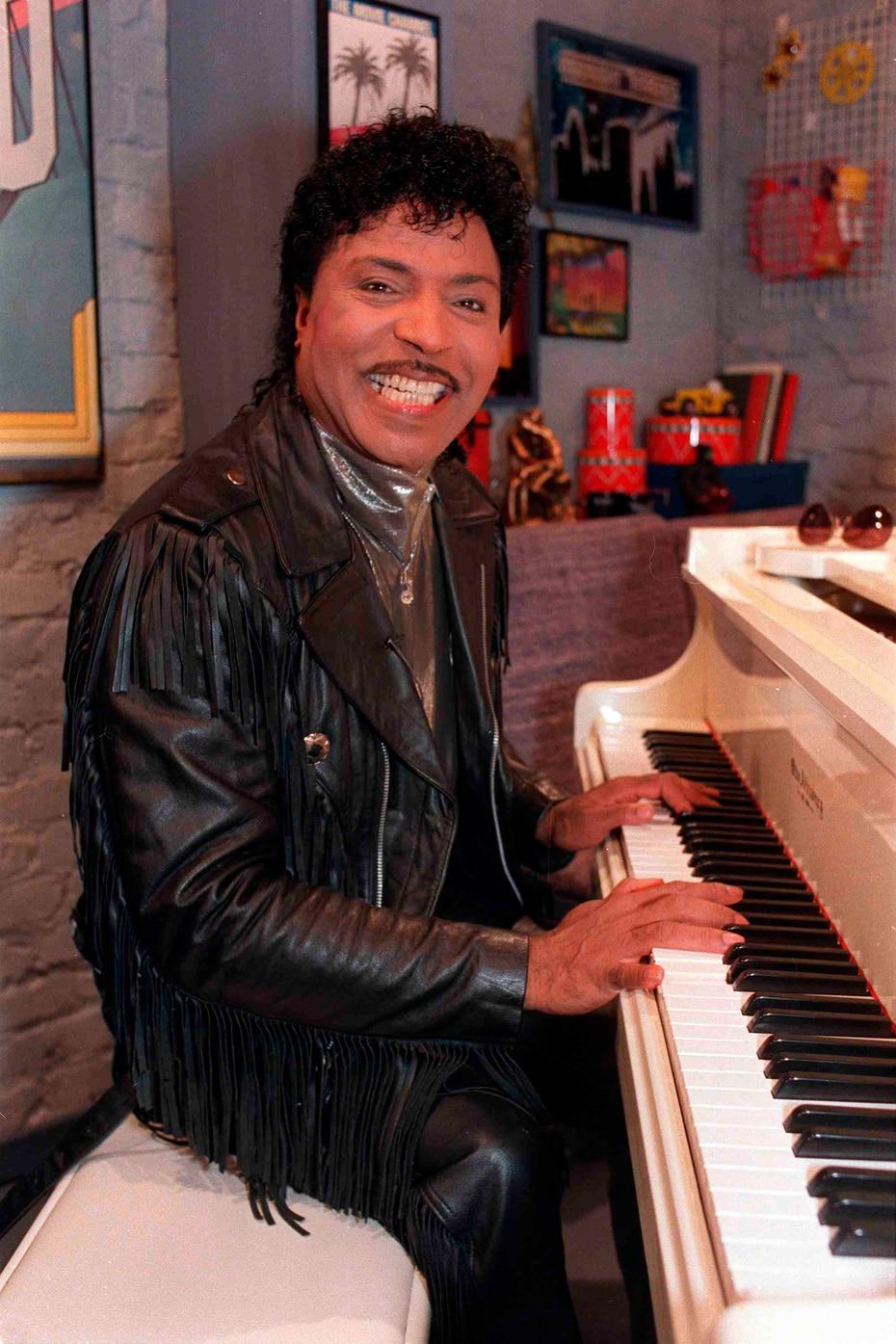 El músico, cuyo nombre real era Richard Wayne Penniman, está considerado como uno de los fundadores del rock and roll. Foto de 1988 durante una grabación.