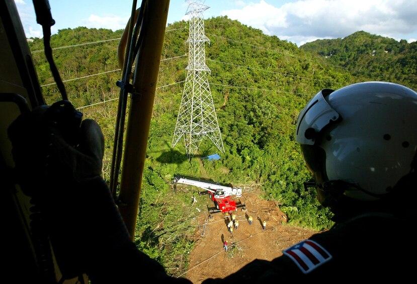 Las líneas de alta tensión del sistema de transmisión salen de las termoeléctricas hasta las subestaciones a lo largo y ancho de la isla. (GFR Media)