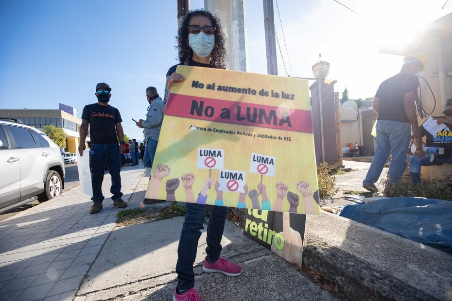 Diversos sectores se unieron a la manifestación en Ponce, donde tres personas fueron arrestadas por intentar sacar camiones de las inmediaciones que ahora dirige LUMA.