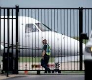 Un avión privado listo para trasladar a los legisladores demócratas de Texas a Washington D.C.